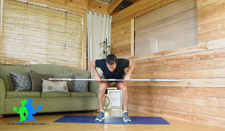 Bar bell Bent Over Row