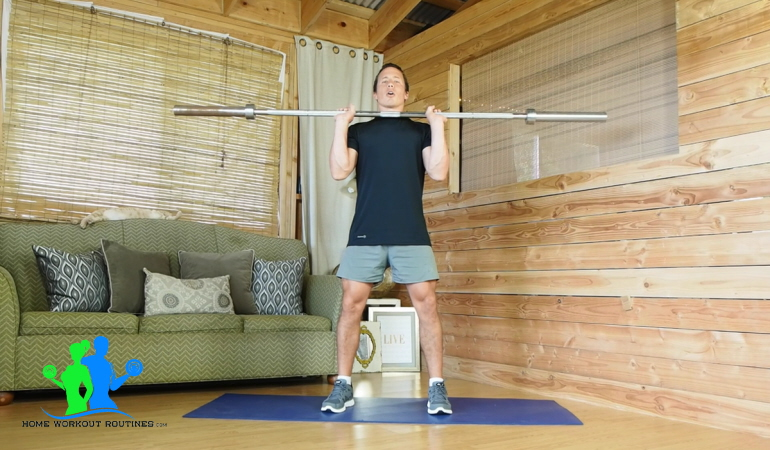 Barbell Front Squat with form